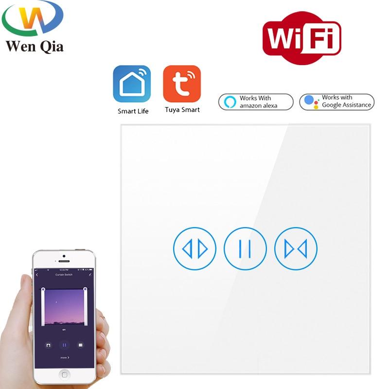 Tuya-مفتاح مصراع الأسطوانة للمنزل المتصل ، وستائر WiFi ، ومحرك كهربائي ، وتحكم صوتي ، و SmartLife ، و GoogleHomeAlexa
