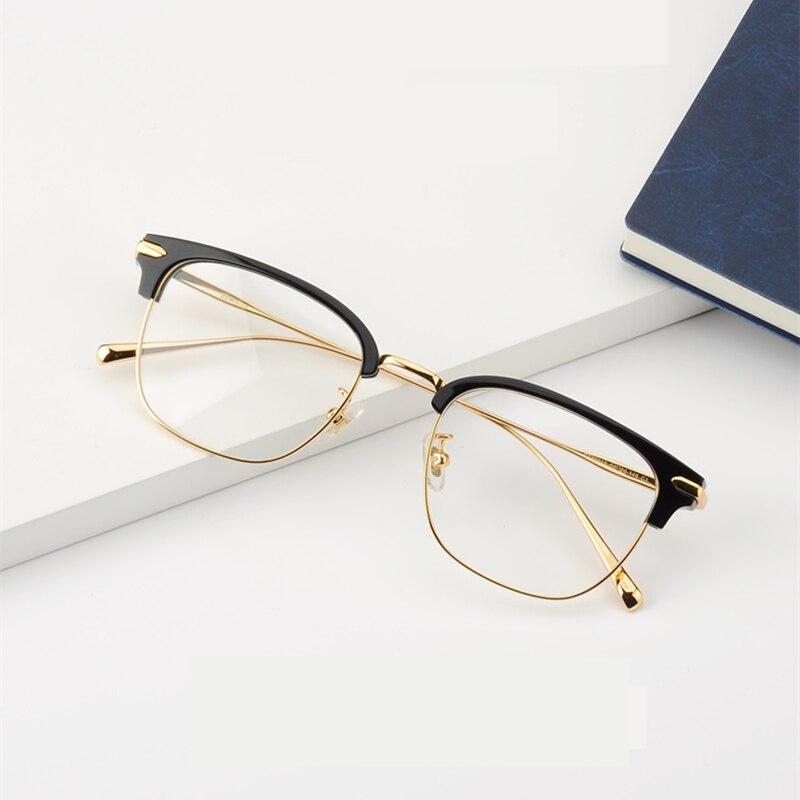 جديد 2021 نظارة طبية شبه مستطيلة للنساء إطار نظارات لقصر النظر نظارات رجالية oculos de grau