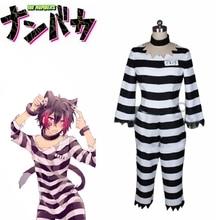 Anime Nanbaka Detentionhouse Cosplay Costume No.15 Jyugo rayé prisonnier Costume