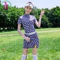 mg new ball clothes suit womens suit long sleevedshort sleeved shirt tops sports golf tennis voleyball short pantskirt set
