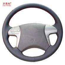 Yuji-hong housse de direction de voiture   Housse en cuir artificiel pour Toyota Highlander 2009-2013 2009 2011-2015 Fortuner