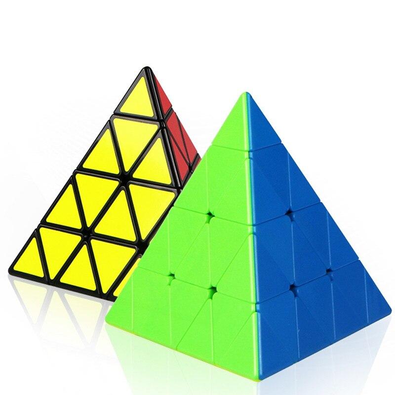 Cubo mágico de cuatro capas QiYi Piramid, regalo de velocidad, juguetes creativos, juego profesional, Cubo mágico, rompecabezas educativo de dificultad suave