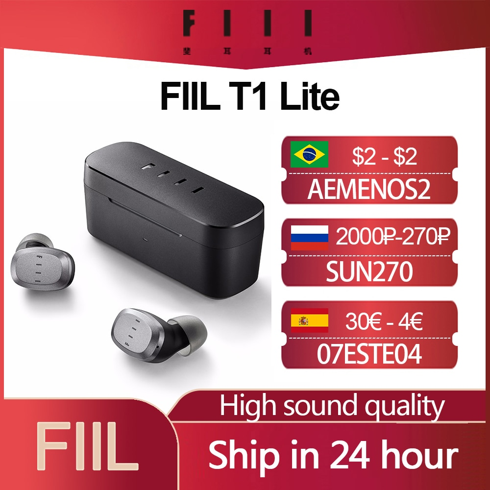 fiil t1x tws true wireless earbuds in ear bluetooth earbuds Original FIIL T1 Lite TWS Bluetooth 5.2 Earbuds True Wireless Earphones Long Battery Life ENC HiFi IPX7 Waterproof with Mic