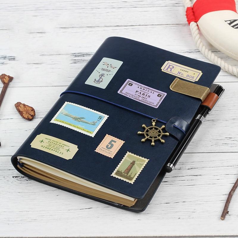 Блокнот-планировщик A5 из искусственной кожи 2021 s, блокнот для дневника, скрапбукинга, путешественника, школьная Канцелярия