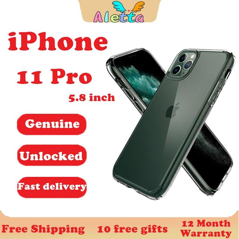 Original Unlocked Apple iPhone 11 Pro 5.8inch Face ID NFC ROM 64GB/256GB/512GB Smartphone A13 Hexa-core Apple Pay Cellphone