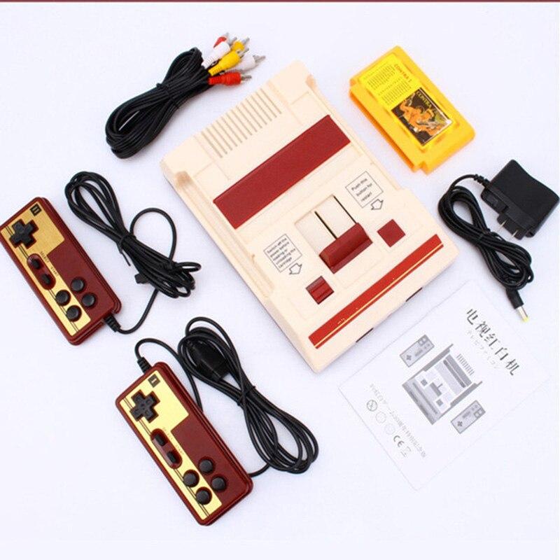 Mini tv game console 8 bit retro clássico handheld jogador de jogos av saída vídeo game console brinquedos presentes 500 jogos por atacado