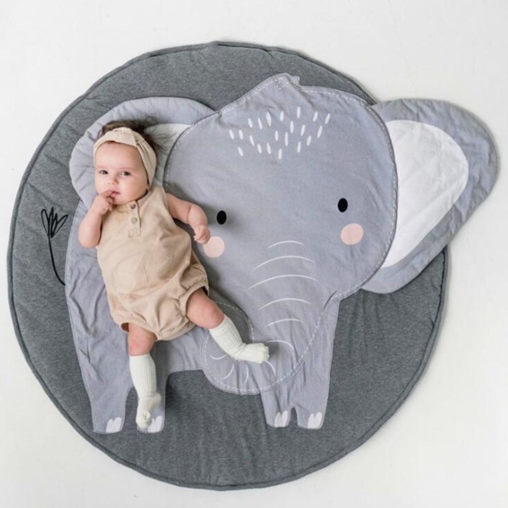 Baby Photography Mat Kids Play Blanket Child Crawling Mat Animal 3D Design Carpet Cotton Photography Props Baby Playmat Ins