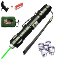 hight powerful green laser pointer 1000m 5mw green dot laser pen 5pcs cap hunting match with lasers sight charger18650 battery