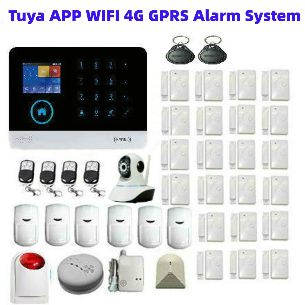 SmartYIBA Smartphone Monitoring 3G Residential Alarm Touch Panel Alarm System Security Home SMS Voice Alert GPRS Delay Function enlarge