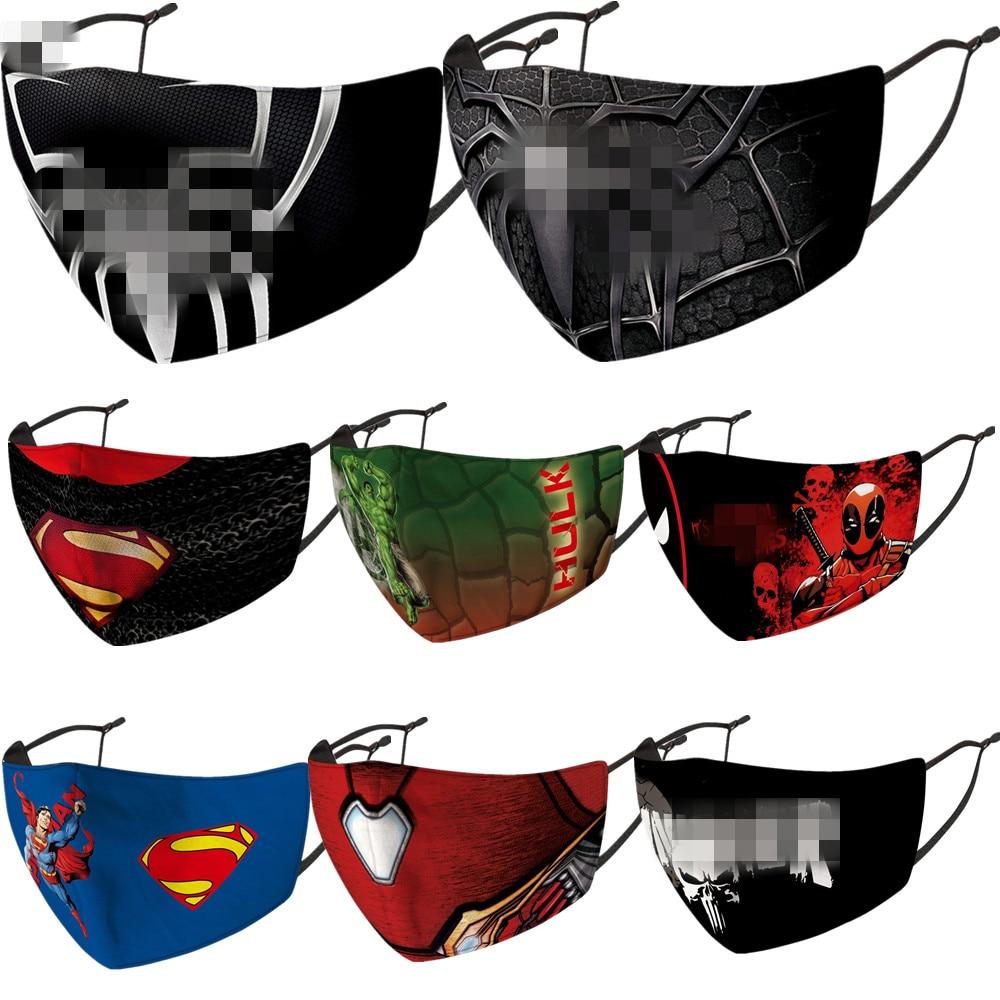 Супергерой, Брюс Уэйн, Халк, Кларк, Кент, маска на лицо для взрослых, Пылезащитная, моющаяся, для косплея Железного человека, Хэллоуин