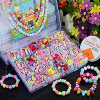 700pcs diy handmade beaded childrens toy creative loose spacer beads crafts making bracelet necklace jewelry kit girl toy gift