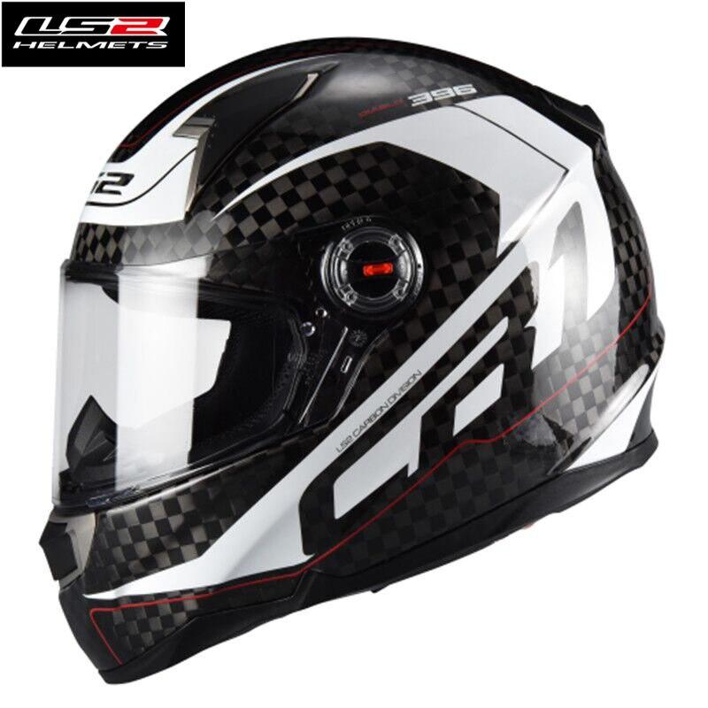 Gran oferta, Casco de carreras Ls2 FF396 de fibra de carbono de cara completa para motocicleta ls2 Casco de motocicleta ECE, certificado hombre y mujer