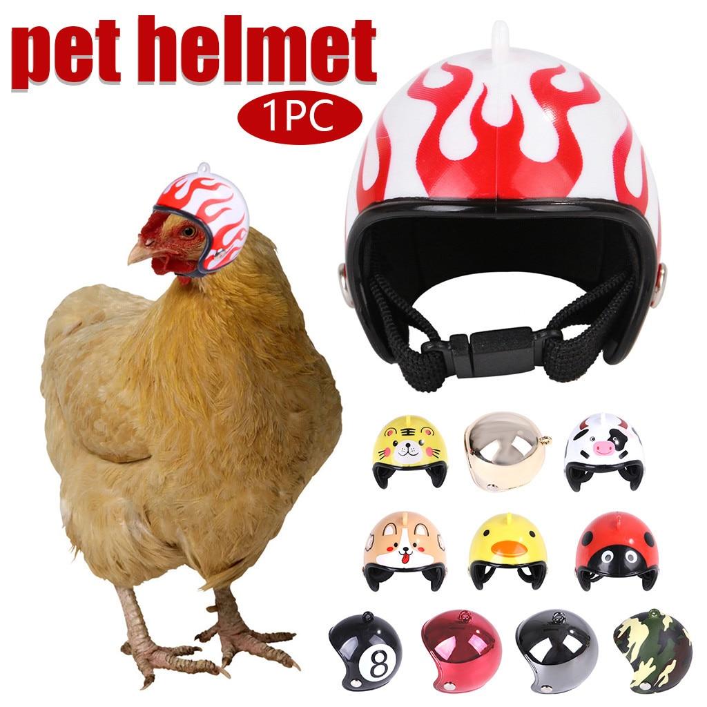 1PC Pet Liefert Kompakte Und Tragbare Lustige Schutz Huhn Helm Hen Harte Hut Vogel Hut Kopfbedeckungen Geflügel Zubehör