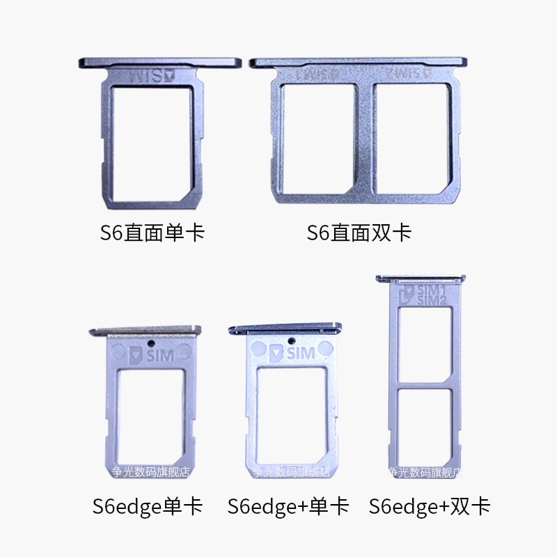 For Samsung Galaxy S6EDGE G925F G925A G925V G925P Holder Slot Dual&Single SIM Card Tray SD