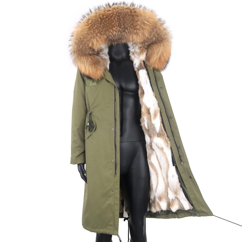 جديد 2021 معطف فرو حقيقي مضاد للمياه للرجال جاكيت شتاء دافئ سميك معطف فرو الراكون معطف رجالي بغطاء للرأس