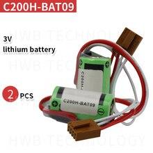 2 حزمة الأصلي جديد اومرون C200H-BAT09 C200H BAT09 C200HBAT09 3V CR17335SE-R CR17335SE CR17335 PLC بطارية ليثيوم مع التوصيل
