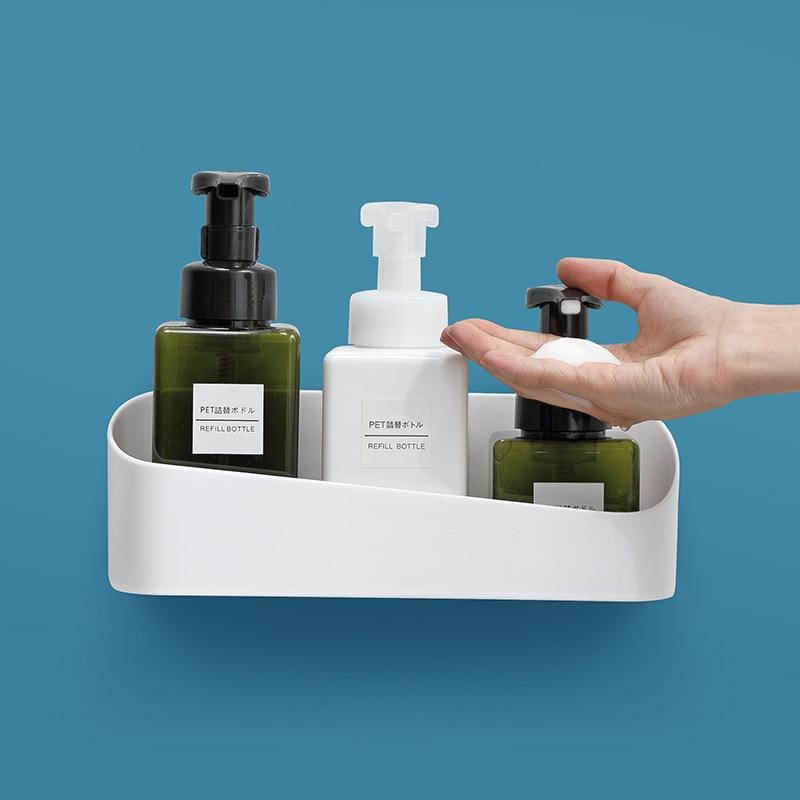 Estante de ducha para baño, soporte de ducha para champú, organizador de...