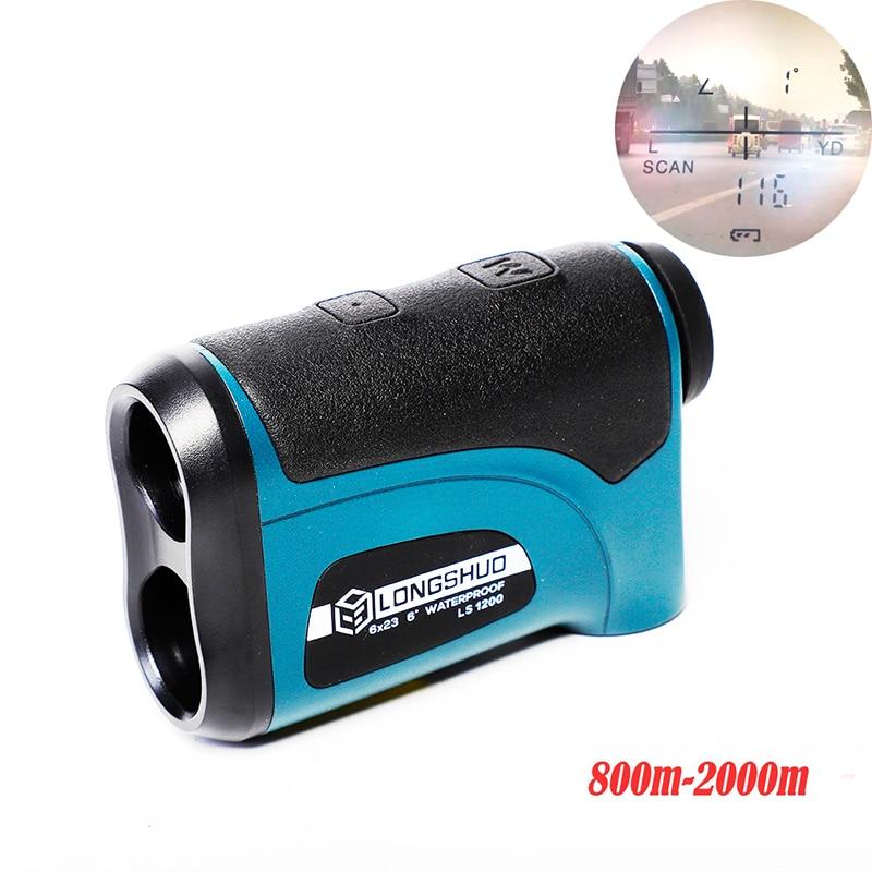 longshuo ls1200 Laser Hunting Rangefinder 800M-2000M Laser Distance Meter for Golf Hunting telescope rangefinder
