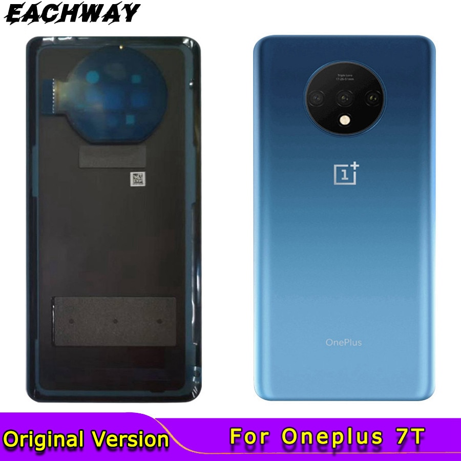 Original For Oneplus 7T Back Glass Rear Housing Cover Replacement Back Door Battery Case for Oneplus