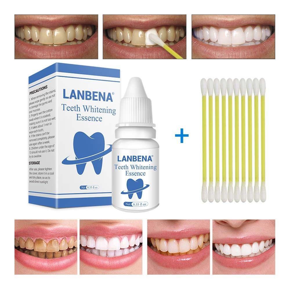 LANBENA blanchiment des dents Essence poudre hygiène buccale nettoyage sérum enlève les taches de Plaque dentaire blanchiment outil dentaire stylo TSLM2