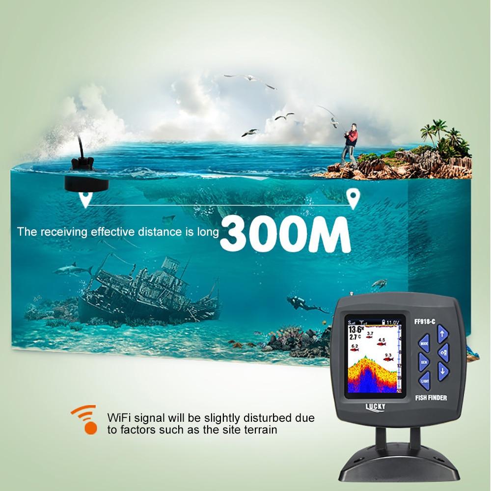 LUCKY FF918-CWLS Smart Fish Finder Wireless Fishing Finder Depth 300M Sonar Sensor Echo Sounder Fish Finder Lake Sea Fishing enlarge
