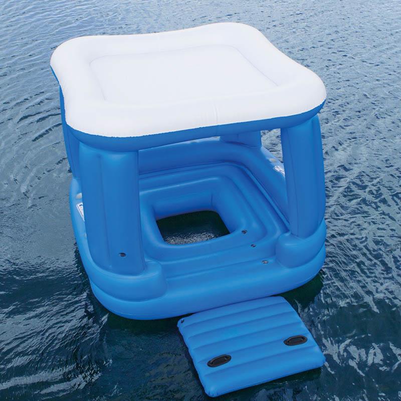 Bestway 43133 inflable fila flotante casa Lounge 4-6 personas uso silla fila flotante cama flotante