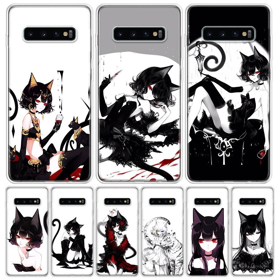 Loli Gothic Cat Phone Case For Samsung Galaxy A50 A70 A30S A51 A71 A10 A20E A40 A90 A20S M30S A6 A7 A8 A9 Plus Coque