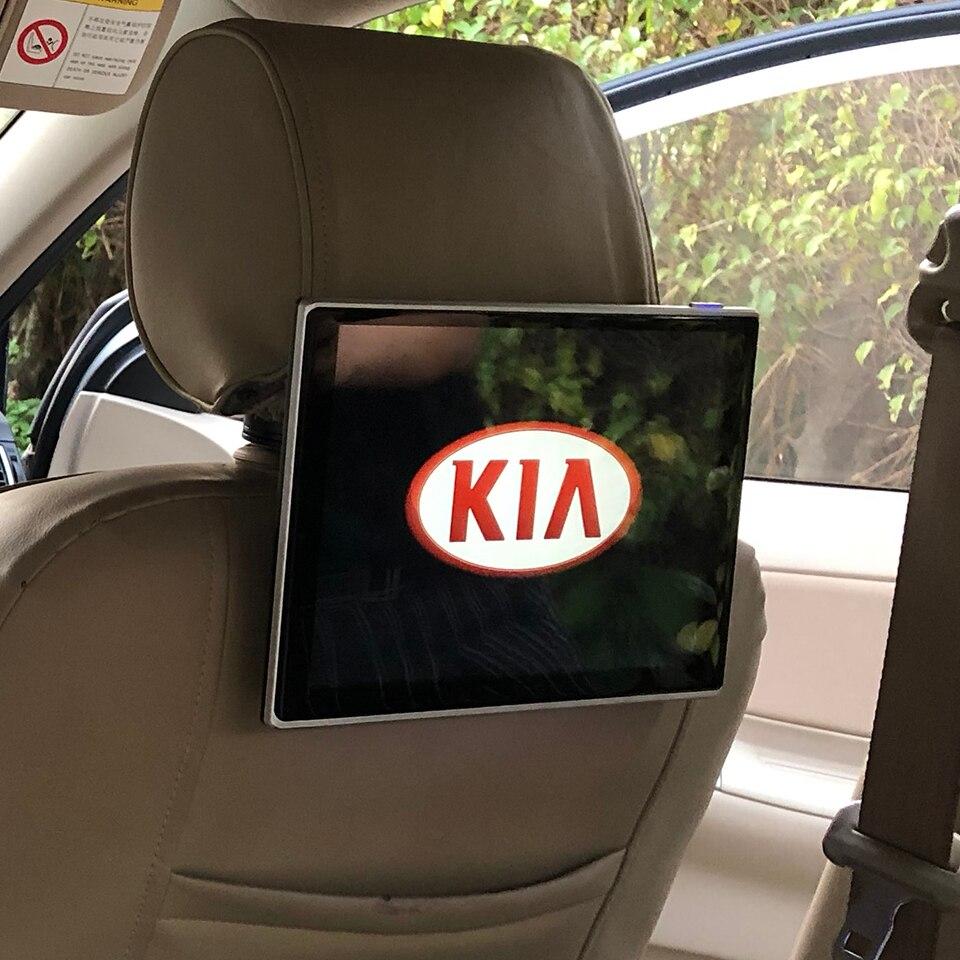 Mais recente banco traseiro do carro dvd player encosto de cabeça monitor para kia picanto venga alma forte cerato cee d d android 7.1 sistema de entretenimento