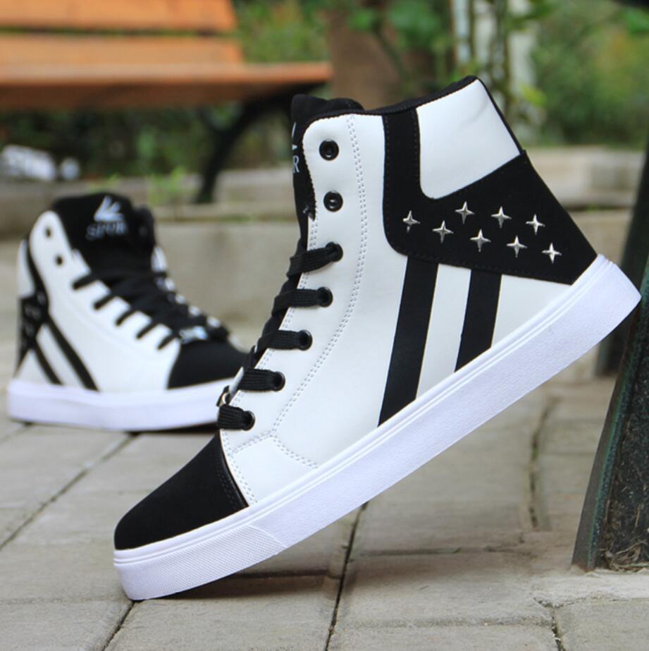 Chaussure Homme männer Casual Skateboard Schuhe High Top Sneakers Sport Schuhe Atmungs Hip Hop Wanderschuhe Straße Schuhe