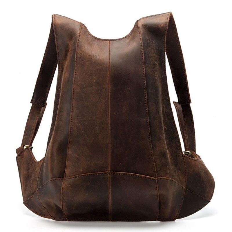 Fashion Mens Women Backpack 100% Genuine Leather Anti-theft Back Zipper School Bag Design Business Travel Black Backpack Mochila