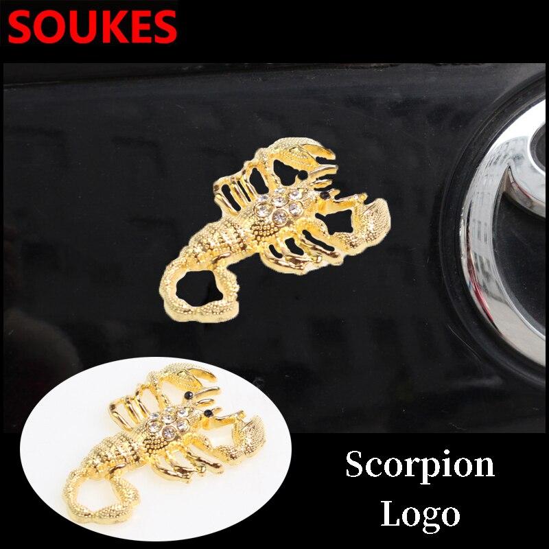1PC Fashion 3D Scorpion Car Metal Sticker For VWPassatB5B6PoloGolf45ChevroletCruzeLadaGrantaRAM Jeep Accessories