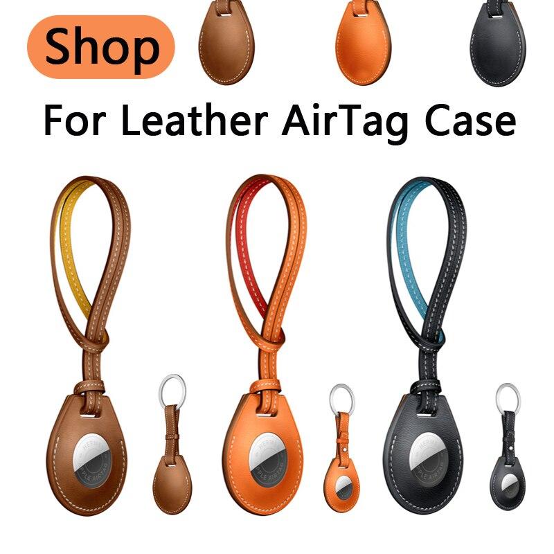 Чехол для Apple Airtag, чехол, кожаная Петля, брелок, защитный чехол для airtag, трекер, локатор, устройство против потери для Airtag air tag, чехол чехол