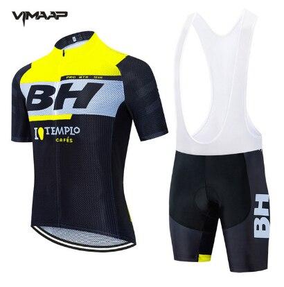 NEW Cycling Clothing BH Pro Team MTB Clothes Men Short Sleeve Jersey Set summer Road Bike Uniform Triathlon Skinsuit Quick Dry
