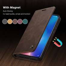 CaseMe For Xiaomi Mi11 Mi9T Retro Magnetic Wallet Leather Case For Redmi Note 10 Pro Max Luxury Flip