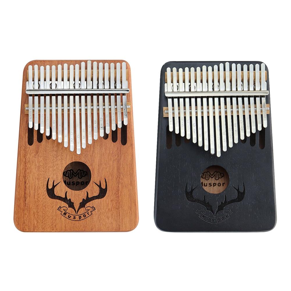 Dichromatismo novo mogno 17 teclas kalimba polegar piano mogno mbira corpo de madeira instrumentos musicais qualidade de som claro