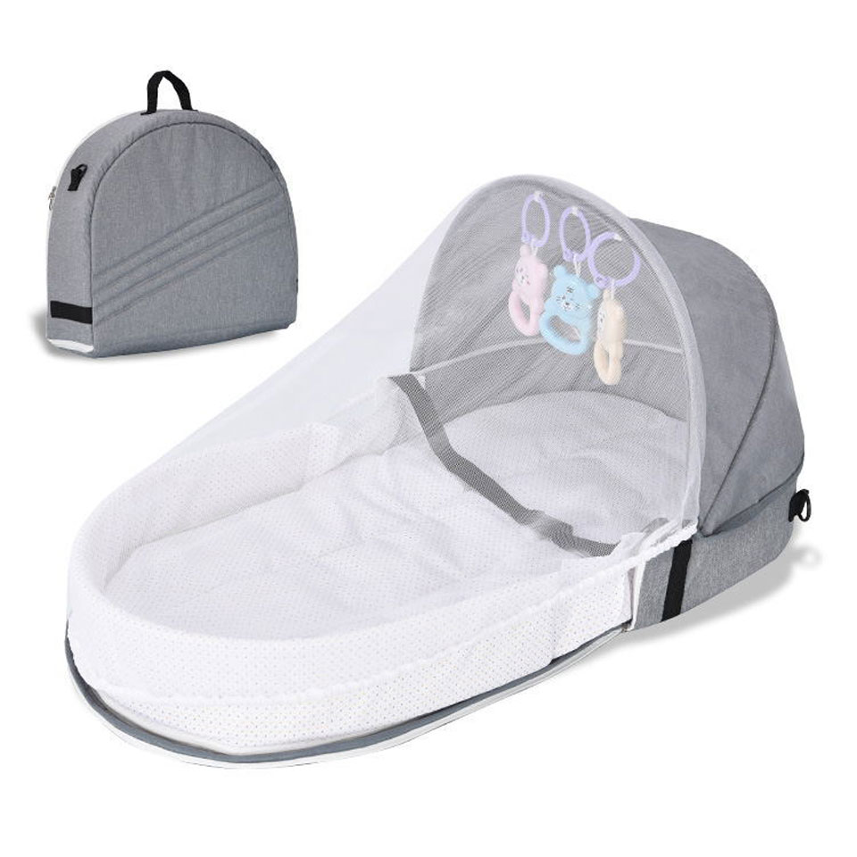 Portable Travel Baby Nest Multi-function Baby Bed Crib with Mosquito Net Foldable Babynest Bassinet Infant Sleep Children's Bed