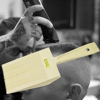 flat hair combs with liquid balance ruler men haircut diy hair styling comb beauty hairdressing tools hairdresser level comb