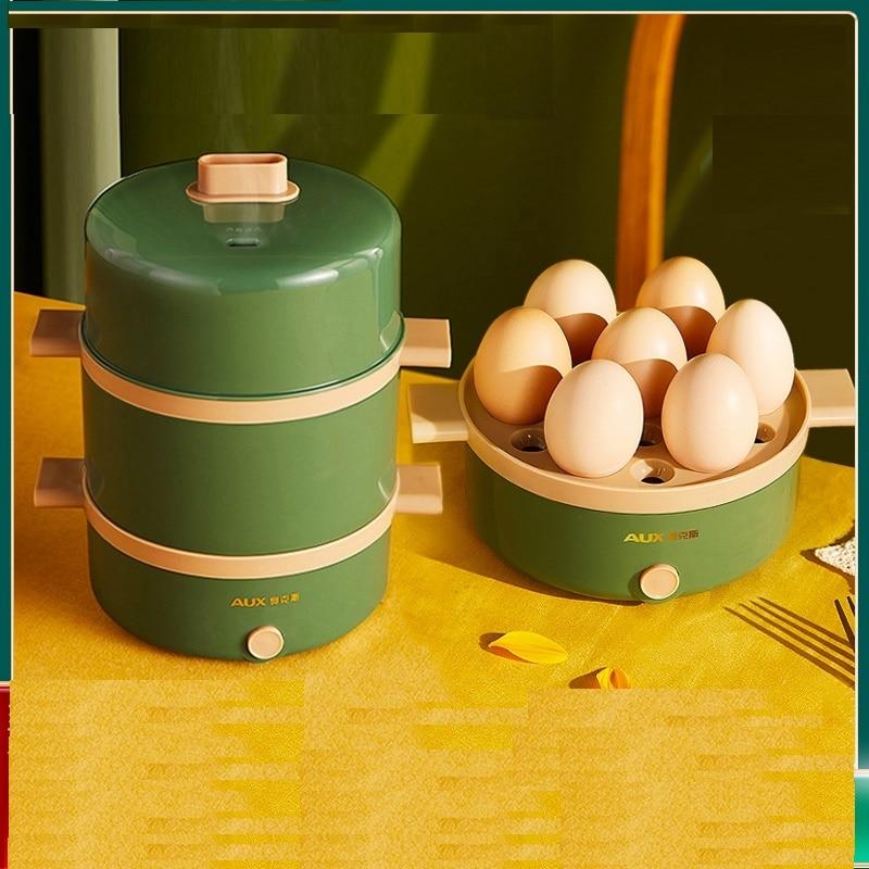 220 فولت 2 طبقات الكهربائية البيض باخرة التلقائي متعددة الوظائف المرجل الإفطار صانع تبخير ماكينة طهي موقد متعدد الوظائف