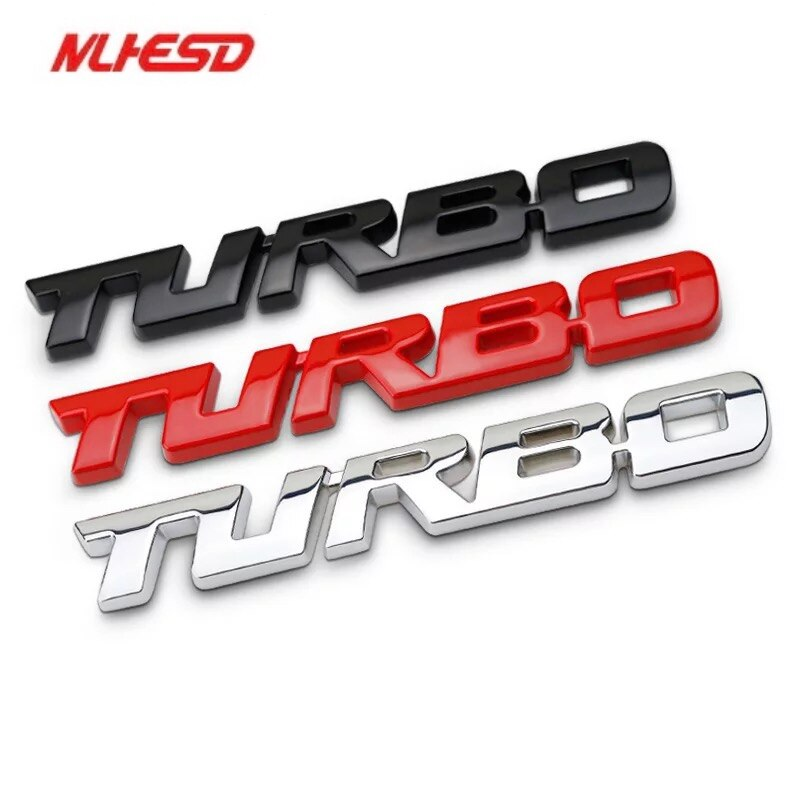 Emblema 3D TURBO METAL parrilla trasera maletero coche insignia coche pegatina para Audi BMW Ford focus VW skoda seat Peugeot lada Renault Hyundai