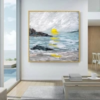 100hand painted abstract oil painting on canvas landscape painting for living room modern wedding decorative painting frameless