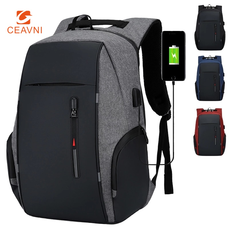 CEAVNI Backpack Men USB Charging Waterproof 15.6 Inch Laptop Casual Oxford Male Business Bag Compute