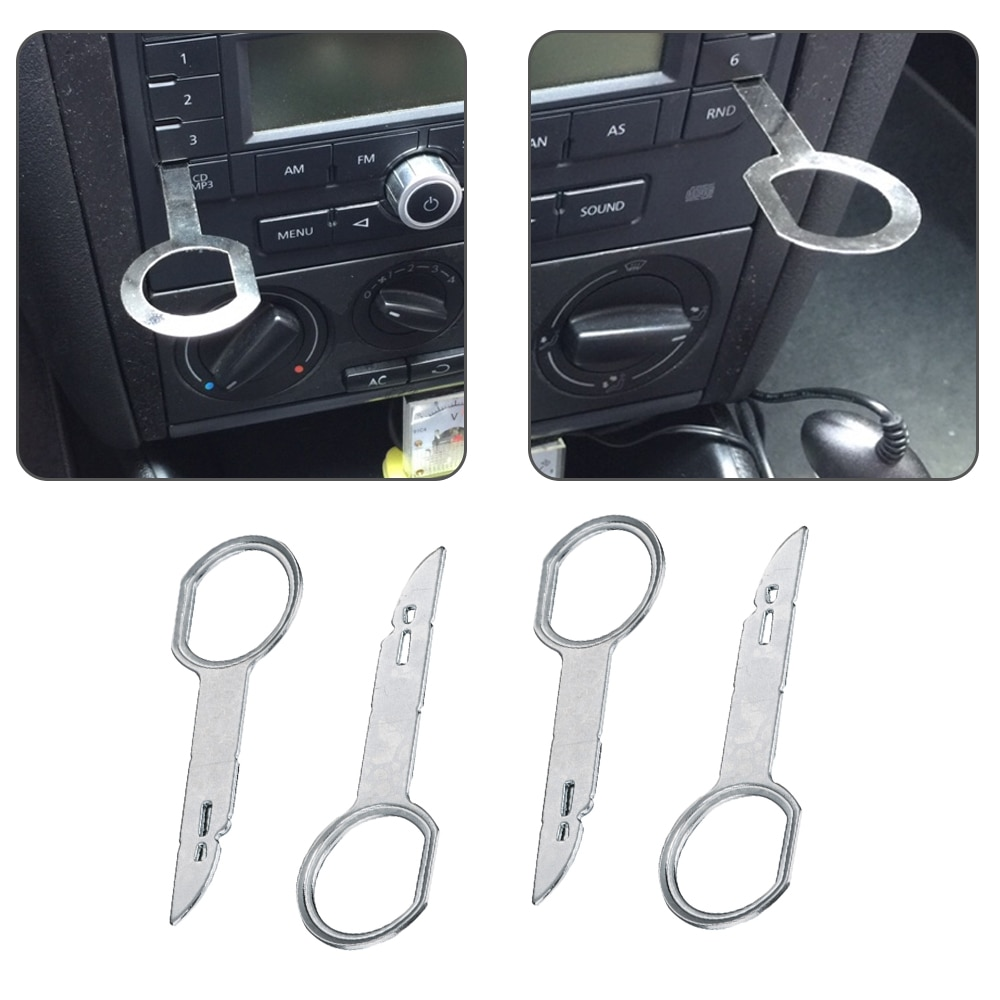 Фото - 4pcs/car audio CD key disassembly tool For VW Audi Ford Focus CD Stereo Radio Audio Removal Release Keys Tool T wilkommen book audio cd