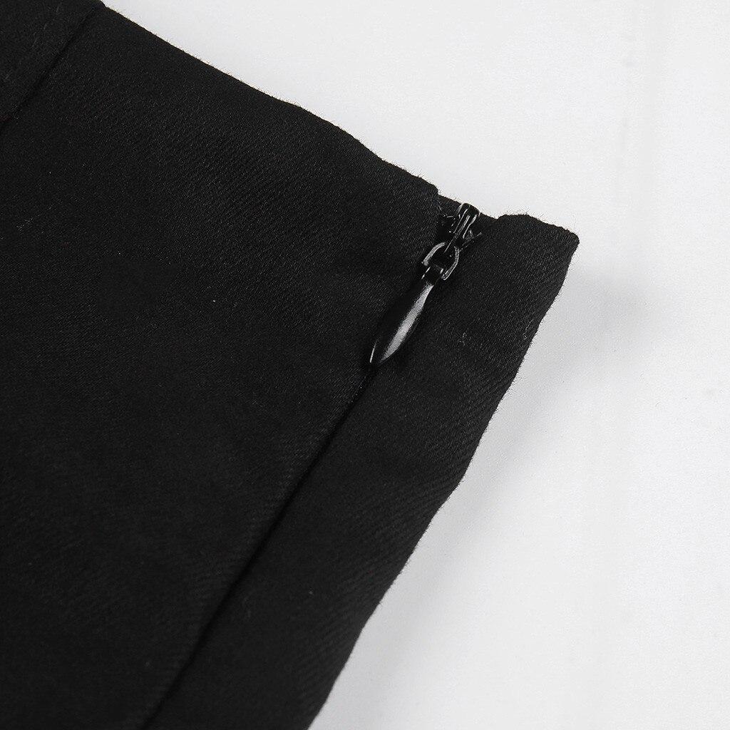 Korean Style Black Package Hip Skirts Irregular Hem Pencil Micro Skirt Sexy Summer Slim Women Bodycon Party Skirts Black 2019