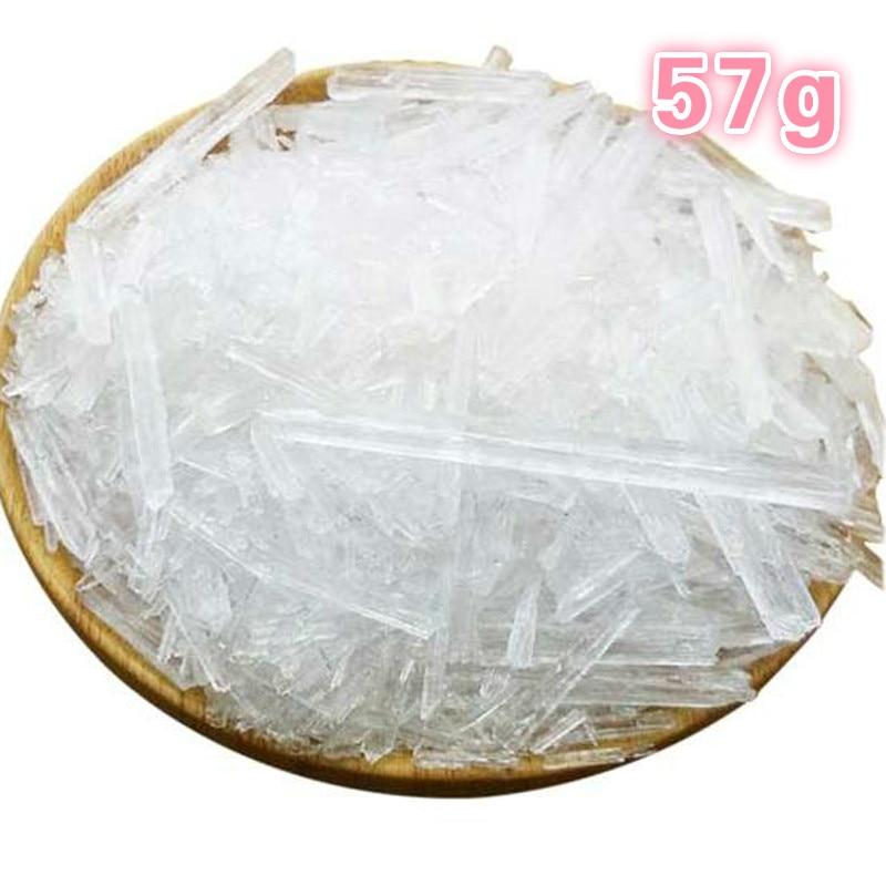 Твердые кристаллы ментола и натурального метанола 57 г, косметические добавки, освежающие, подходят для чувствительной кожи