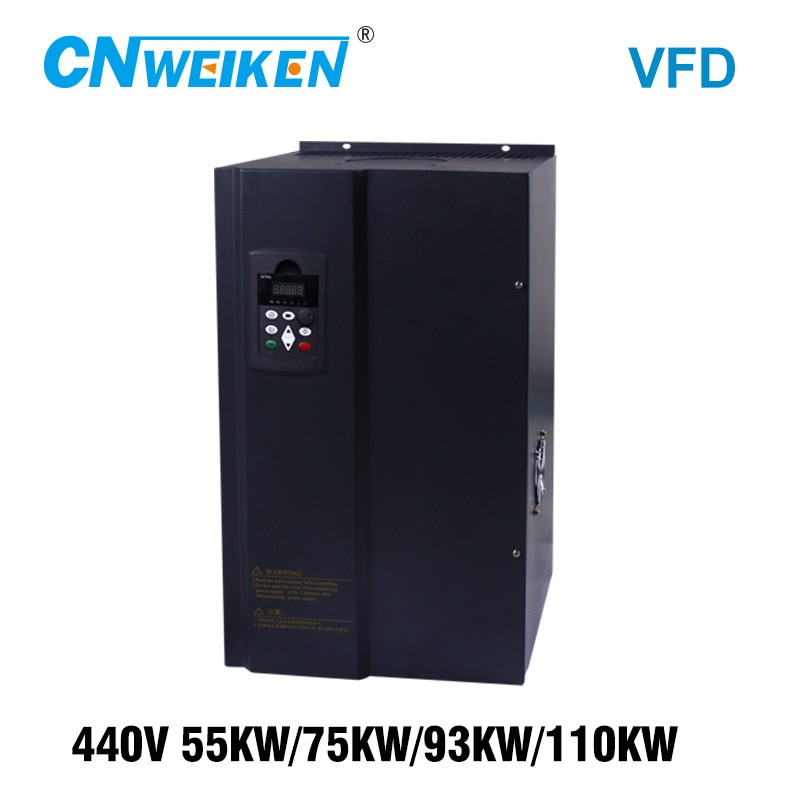 Convertidor de frecuencia para Motor 440V 55KW/75KW/93KW/110KW ENTRADA DE 3 fases y tres salidas 50 hz/60 hz AC VFD inversor de frecuencia