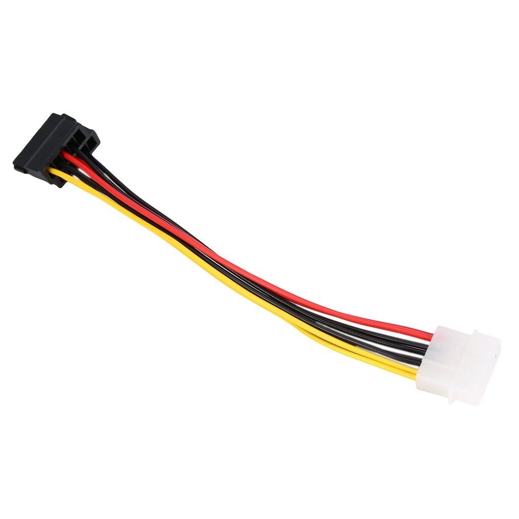 Cable HDD Serial ATA SATA de 4 pines, IDE Molex a 2 de 15 Pines, adaptador de corriente novedoso en todo el mundo 1 Uds.