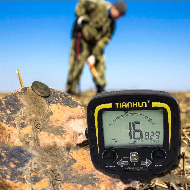 TX-850 LCD المحمولة عرض وحدة تحكم عن المهنية تحت الأرض للكشف عن المعادن الماسح الضوئي مكتشف الذهب حفار الكنز هنتر