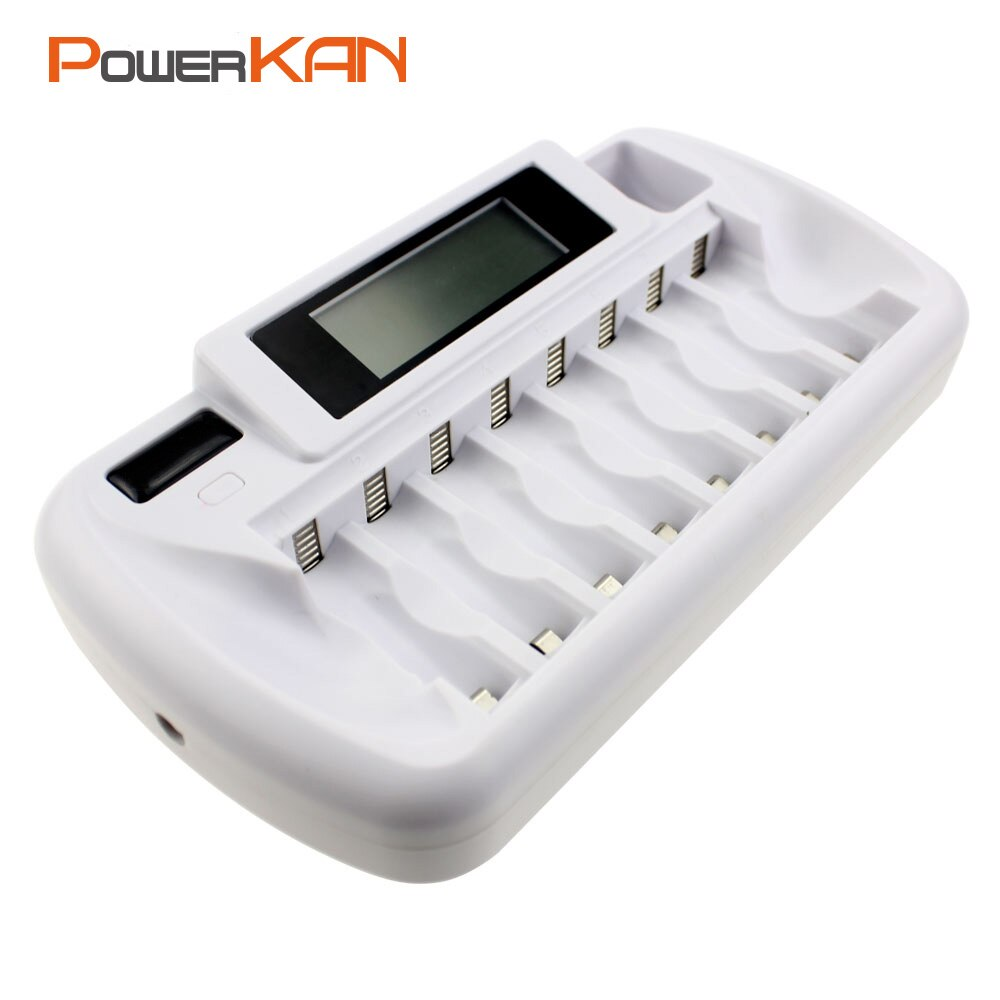 Smart charging stand, 8-slot battery charger 1.2V AA AAA battery charger for Ni-MH rechargeable batteries