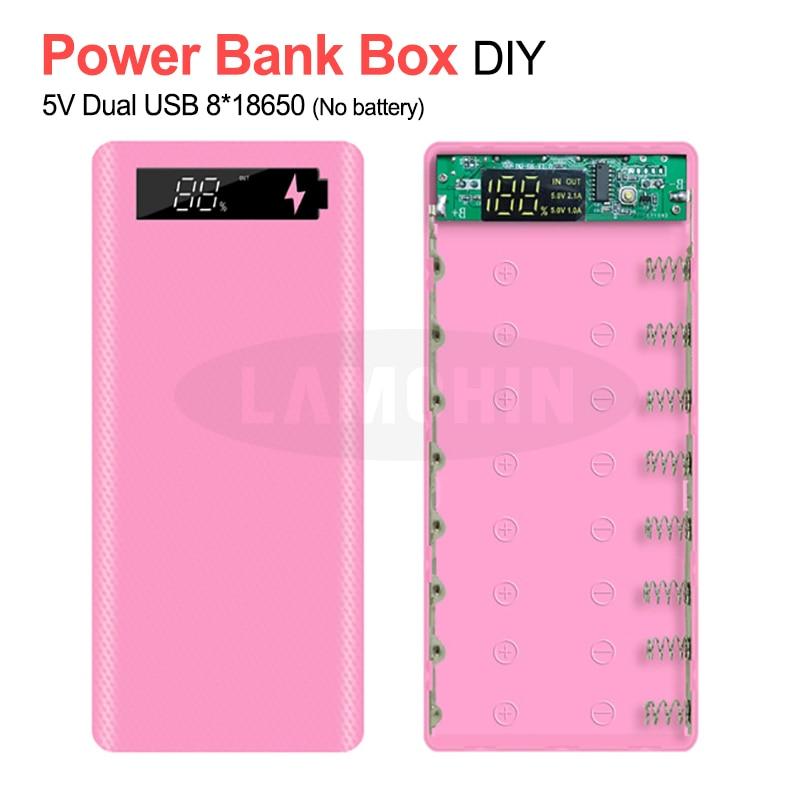 5V/2A Dual USB 8*18650 banco de energía USB caja de batería con paquete al por menor cargador DIY funda para IPhone11 X Samsung S10 Plus