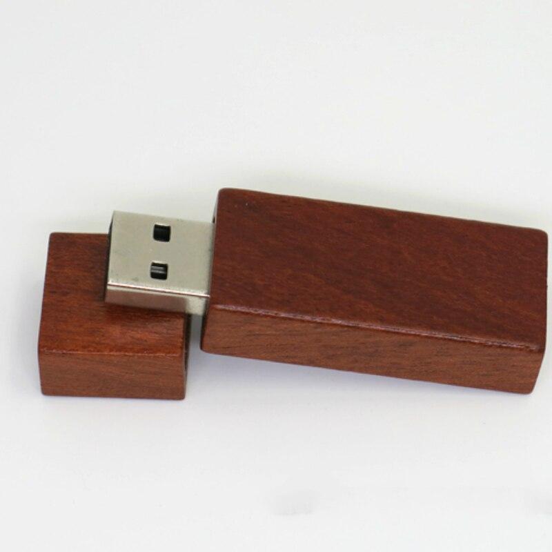 Customize LOGO wooden + Box Personal LOGO pendrive 4GB 8GB 16GB 32GB usb Flash Drive U disk Memory stick wedding Best Gift